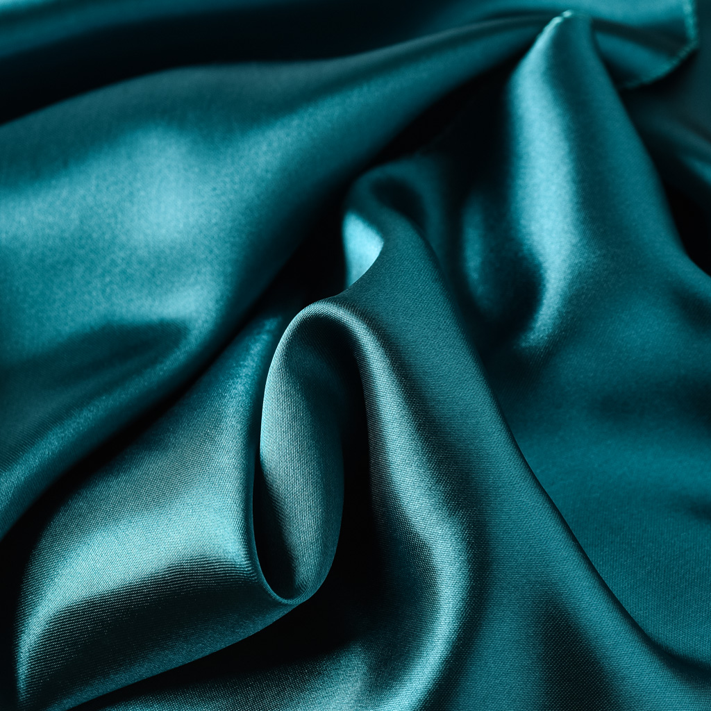 Dark Teal Satin